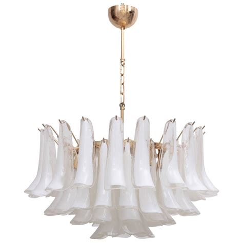 Chandelier Base Large Murano Chandelier With Gold Plated Base Italy 1970s At 1stdibs