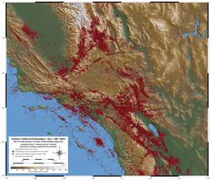 earthquake southern california map map of southern california earthquakes from 1981 2005