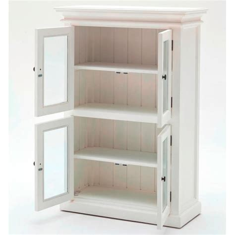 Halifax White Kitchen Storage Cabinet 4 Door Akd Furniture White Kitchen Storage Cabinet