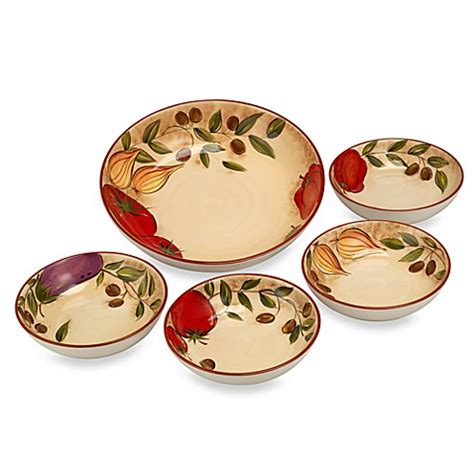 Umbria Set umbria garden 5 pasta bowl set bed bath beyond