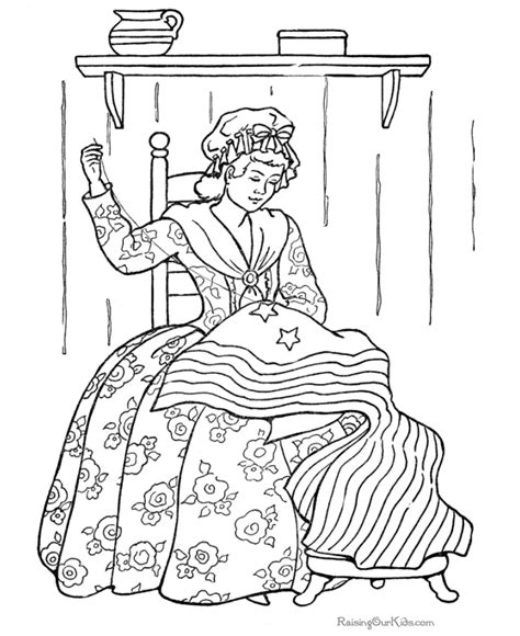 coloring pages for us history history of the american flag 005