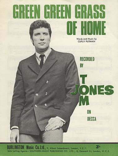 tom jones green green grass of home uk sheet 387617