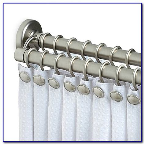 double shower curtain tension rod 96 inch tension shower curtain rod curtain home design