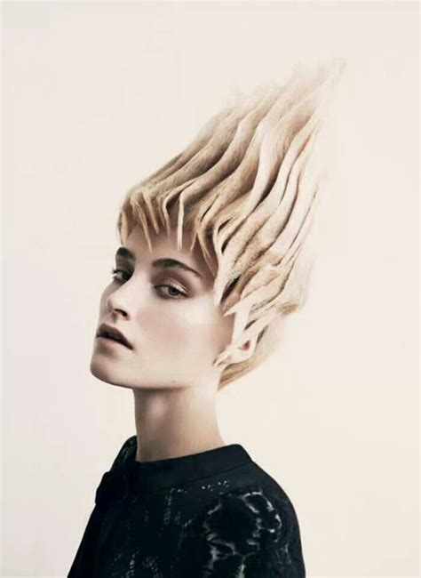 cool avant garde short blonde hairstyles cool futuristic hair manolo photoshoot pinterest