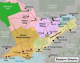 map of eastern canada with cities talk eastern ontario travel guide at wikivoyage