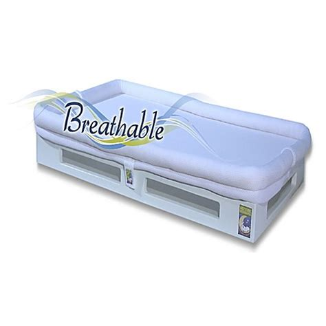 Breathable Crib Mattress Secure Beginnings Mini Breathable Crib Mattress In White White Buybuy Baby