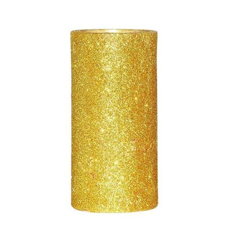 led gold glitter flameless candle 10 in candles home flameless gold glitter led pillar candle will add a