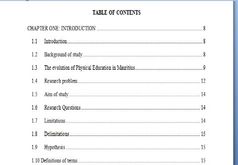 Mba Mondays Table Of Contents by Dissertation Study Limitations