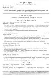 Sle Electrician Resume by Auto Electrician Resume Sales Electrician Lewesmr