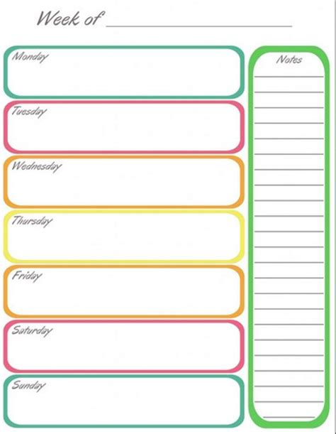 1 week calendar template printable one week calendar calendar picture templates