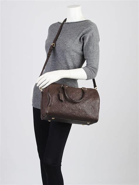 Ta Louis Vuitton Lv Speedy Bandouliere 40291 Louis Vuitton Terre Monogram Empreinte Leather Speedy
