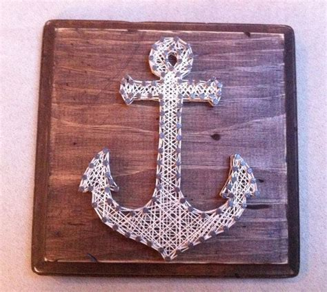 String Anchor - handmade aged anchor string