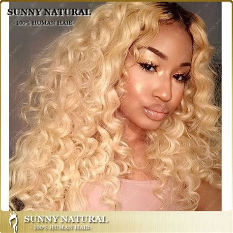 front hair blonde black hair dark blonde curly lace front wigs hair wig long