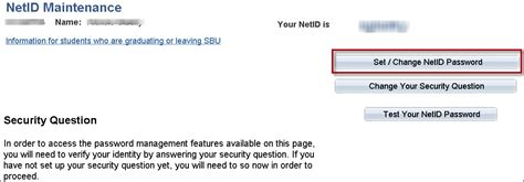 Resetting Netid   setting up your netid security question and password for