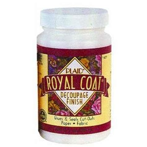 decoupage finish plaid royal coat decoupage finish 16 oz