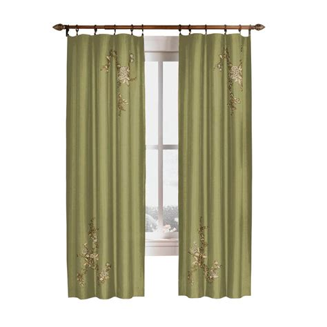 curtain works reviews curtainworks semi opaque sage asia faux silk rod pocket