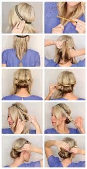 frisuren anleitung mit haarband frisuren mit haarband 30 ideen f 252 r einen romantischen look