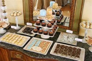 Cake And Buffet Table Wedding Cake And Dessert Table Glorious Treats