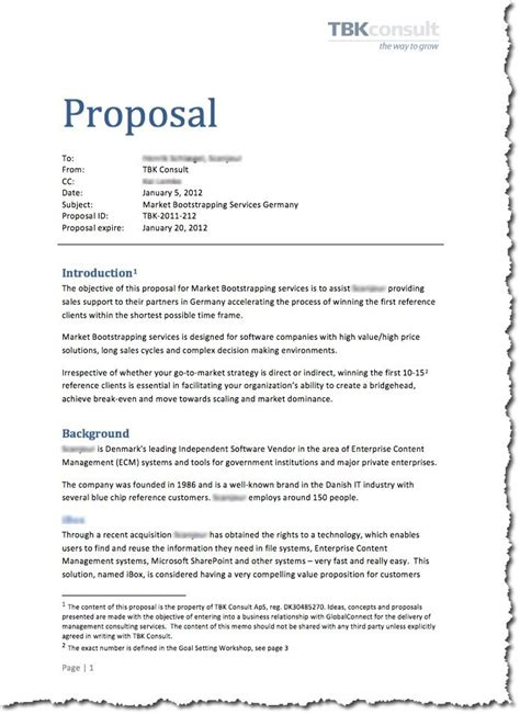 Proposal Format In English | cae proposal ready for cae c1 pinterest proposals