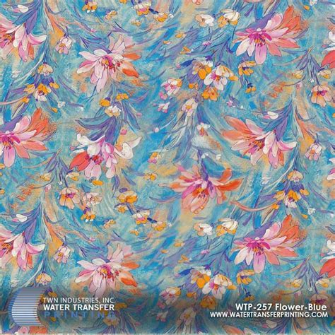 Pattern Hydrographic Flower L50cm flower blue hydrographic wtp 257 only at twn industries