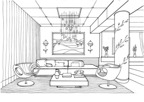 inside house coloring page living room with fireflies coloring page free printable