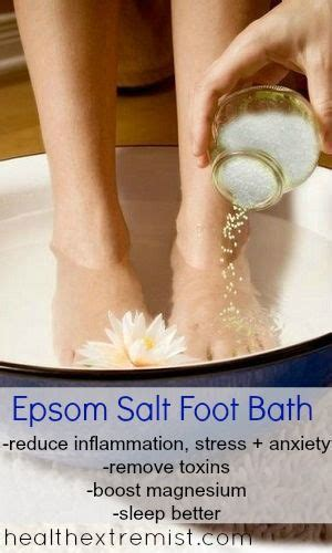 Epsom Salt Foot Detox Lyme by 17 Best Ideas About Foot Baths On Detox Bath