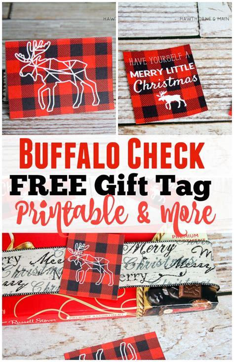 buffalo check printable gift tags   hawthorne  main
