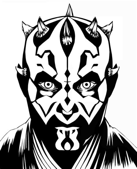 coloring pages darth maul darth maul inks by brentjs on deviantart