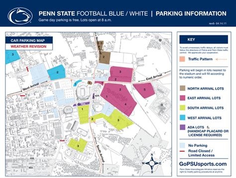 psu parking map additional soaked parking lots not available for blue
