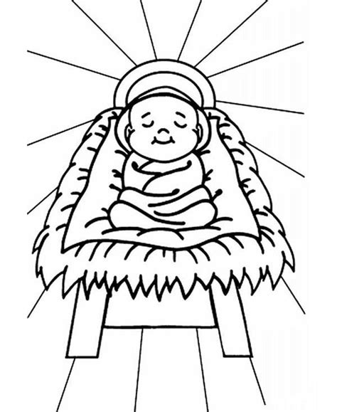 preschool coloring pages of baby jesus pictures of baby jesus in a manger cliparts co