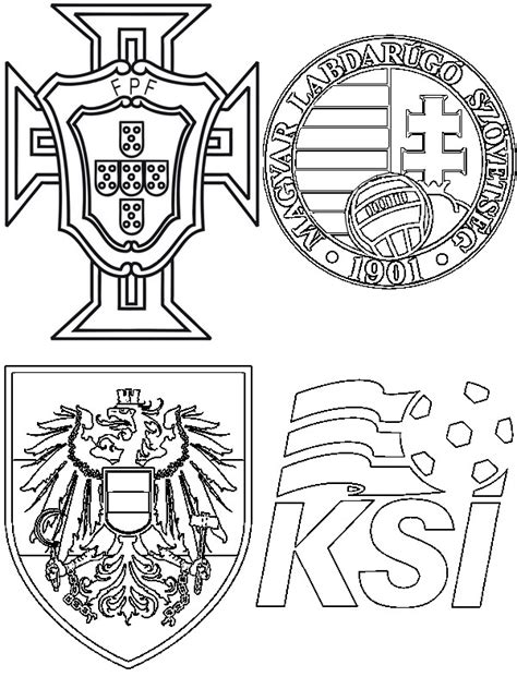 coloring pages euro portugal soccer team logo coloring page sketch coloring page