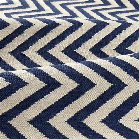 Blue Chevron Rug by The Land Of Nod Rugs Blue Chevron Patterned