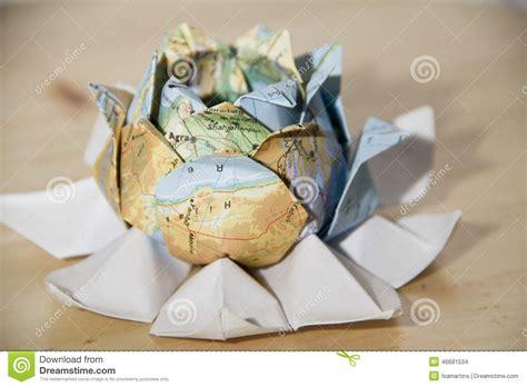 Origami World - origami world flower stock photo image 46681534