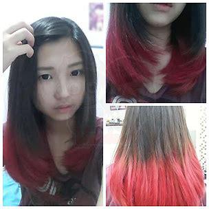 tutorial ombre rambut tanpa bleaching testimonial manic panic di indonesia customer manic panic