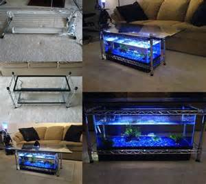 diy coffee table aquarium how to diy aquarium coffee table beesdiy