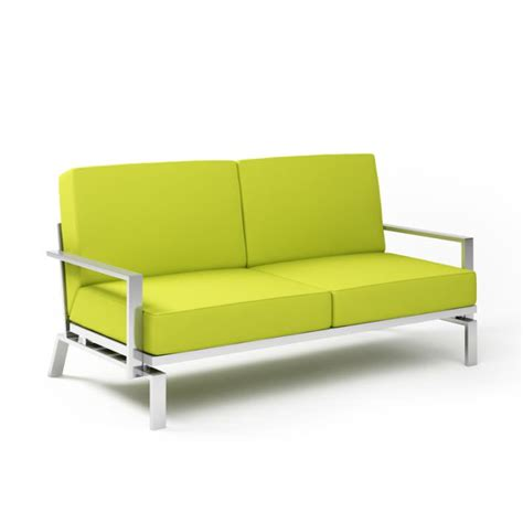 steel sofa online modern steel lime loveseat 3d model obj cgtrader com