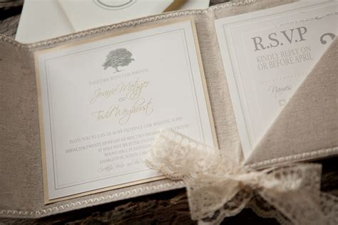 not on the high lace wedding invitations linen and lace wedding invitation onewed