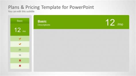 4 pricing plans powerpoint template with recommandation saas powerpoint templates