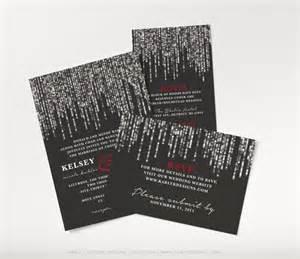 printable winter wedding invitation black and silver wedding invitation set glamorous