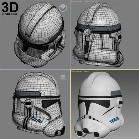 How To Make A Clone Trooper Helmet Out Of Paper - 3d printable model clone trooper phase 2 wars