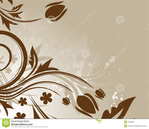 brown floral background stock images image 9760304