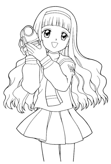 modern girl coloring page детские раскраски аниме