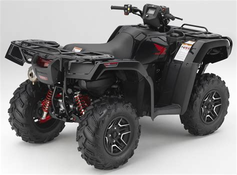 honda rubacon 500 black honda s new 2017 atv lineup cyclevin