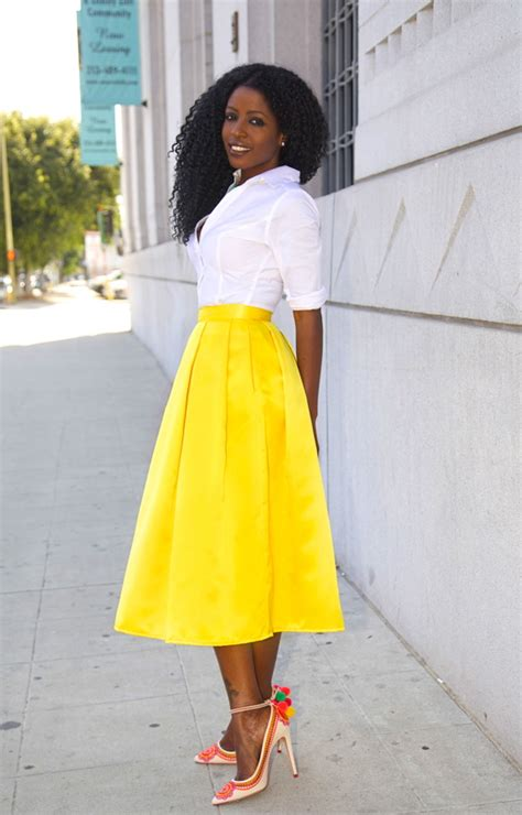 style pantry white button up shirt yellow box pleat
