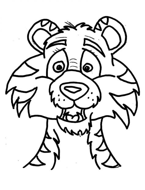 coloring pages of tiger face tiger face coloring page clipart best
