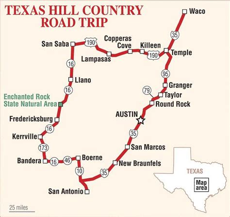 texas hill country road trip map tracking the texas rangers true west magazine