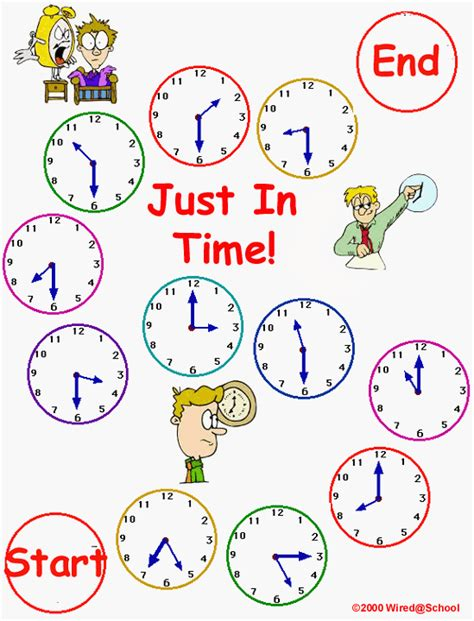 Printable Games For Time | telling time board games printables images