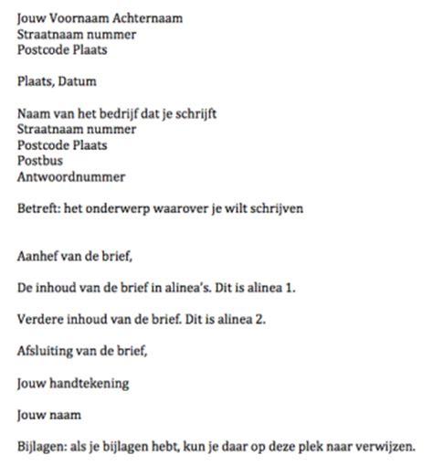 Adressering Formele Brief Cv Voorbeeld 2018 oefenen brief schrijven nederlands voorbeeld cv 2018