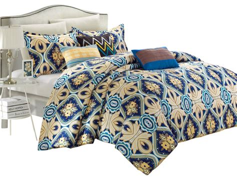 blue and gold comforter set sutton place blue and gold queen 8 piece comforter bed in