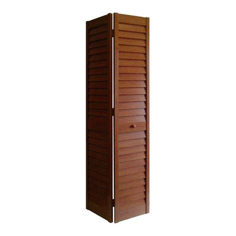 18 Inch Bifold Closet Doors Home Fashion Technologies 18 In X 80 In 3 In Louver Louver Cherry Composite Interior Bi Fold